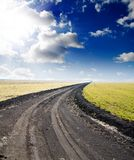 Way to hazy horizon Stock Images