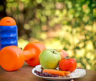 Way to healthy living Royalty Free Stock Image
