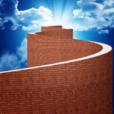 Way to heaven. Fine 3d illustration of hard path to heaven Stock Photo
