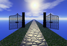 Way to heaven. 3d illustration Stock Photo