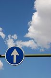 Way to heaven. Road sign Stock Image
