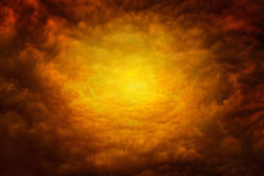 Way to hell. Dramatic religious background - apocalyptic red clouds, way to hell Stock Photography