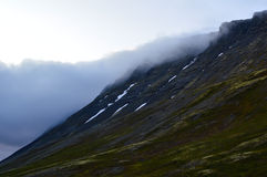 Way to Hibiny mountains. Cloudy way to Hibiny mountains stock photos
