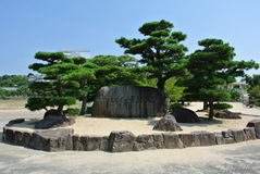 The way to Himeji-jo Castle in Japan in Hyogo prefecture. Royalty Free Stock Photos