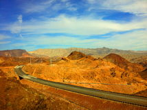 The way to Hoover dam Stock Photography