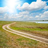 Way to horizon Royalty Free Stock Images