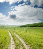 Way to horizon Stock Image