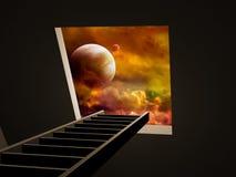 Way to imagination. Conceptual image - way to imagination Royalty Free Stock Image