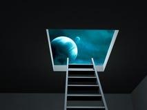 Way to imagination. Conceptual image - way to imagination Royalty Free Stock Photos