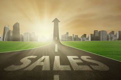 The way to improve sales Stock Images