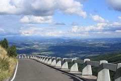 Way to Jested mountain in Liberec, Czech Republic Stock Photo