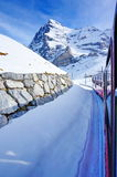 On the way to Jungfrau by train Stock Photos