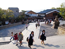 Way to Kiyomizu temple , Kyoto ,Japan stock photography