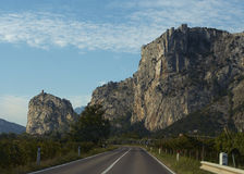 The Way to Lake Garda. The Roadway to the Lake Garda with astonishing mountains, Italy Stock Images