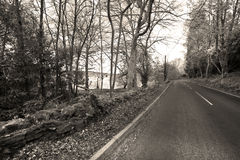 Road to Loch Lomond, Scotland Royalty Free Stock Photography
