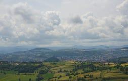 Way to Le Puy-en-Velay. Landscape. Statue Notre Royalty Free Stock Photos