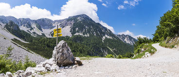 Way to Maltschacher Alm in Austria and view to Karawanks Stock Photography