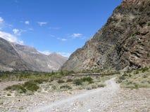 Way to Marpha, Kali Gandaki valley, Nepal Royalty Free Stock Images
