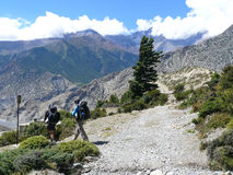 Way to Marpha, Kali Gandaki valley, Nepal Stock Photos