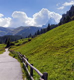 Way to Matterhorn, Switzerland stock photography