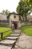 Way to medieval castle royalty free stock image