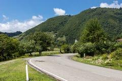 Way to Mestia. The way to Mestia in Georgia, Swaneti Region Royalty Free Stock Images