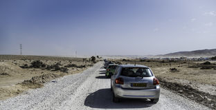 On the way to MIdburn Israel Stock Photo