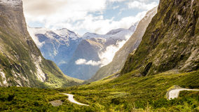 On the way to Milford Sound in New Zealand. Taken at a stop on the way from Queenstown to Milford Sound, in the South Island of New Zealand Stock Images
