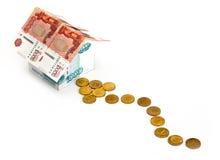Way to money house Stock Image