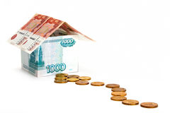 Way to money house Stock Photography