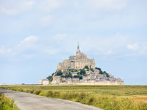 Way to mont saint-michel abbey, Normandy Royalty Free Stock Photo