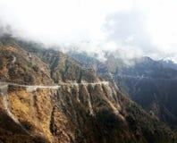 Way to nathula pass. Road to nathula pass from Gangtok stock photo