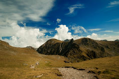 The way to Negoiu Peak, Carpathians Mountains, Romania Stock Images