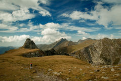 The way to Negoiu Peak, Carpathians Mountains, Romania Royalty Free Stock Photography