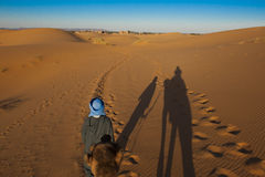 On the way to the Oasis Royalty Free Stock Image