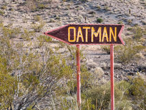 This way to Oatman, Arizona Stock Images