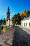 Way to the old castle in Banska Stiavnica, UNESCO Stock Photos