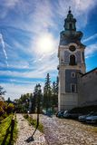 Way to the old castle in Banska Stiavnica, Slovakia Royalty Free Stock Image