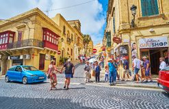 The way to the old fortress, Victoria, Gozo, Malta royalty free stock image