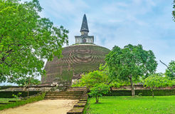 The way to old stupa Royalty Free Stock Image