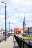 Way to Old town of Riga, Latvia Stock Photography
