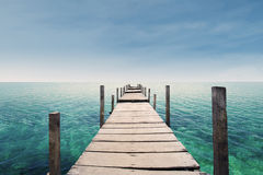 The way to paradise island Stock Image