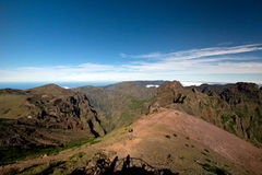 Way to Pico do Arieiro, Madeira Royalty Free Stock Images