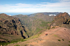 Way to Pico do Arieiro, Madeira Stock Photos