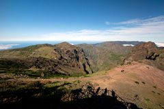 Way to Pico do Arieiro, Madeira Stock Image