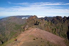 Way to Pico do Arieiro, Madeira Stock Photo