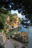 On the way to Portofino, Liguria, Italy Stock Image