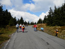 Way to Praděd - czech mountains Stock Photos