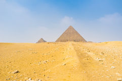 The way to the Pyramid Royalty Free Stock Images