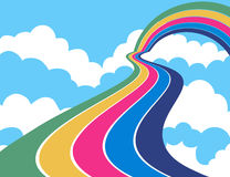 Way to rainbow Stock Photo
